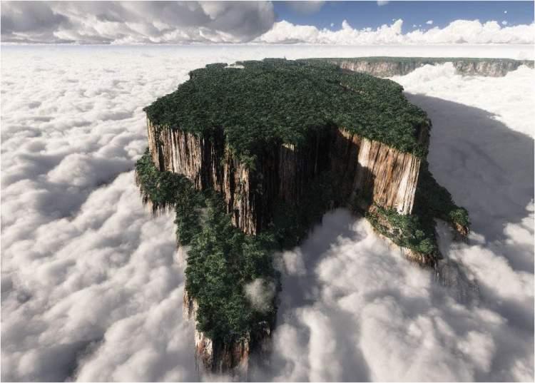 Monte Roraima é um dos lugares surreais no Brasil