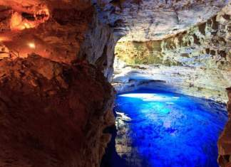 Poço Azul na Chapada Diamantina