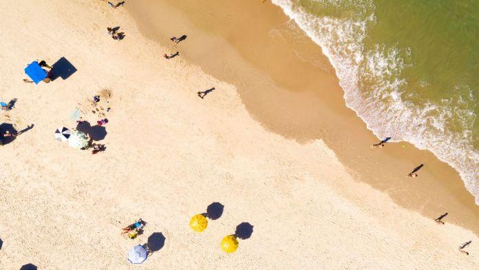 Vista aérea da praia do Robalo, Aracaju