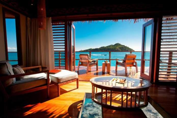 Likuliku Lagoon Resort - Mamanuca Archipelago (Fiji) é um dos hotéis flutuantes ao redor do mundo