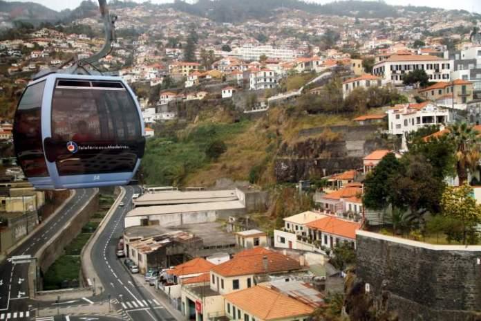 Teleférico do Funchal na Ilha da Madeira
