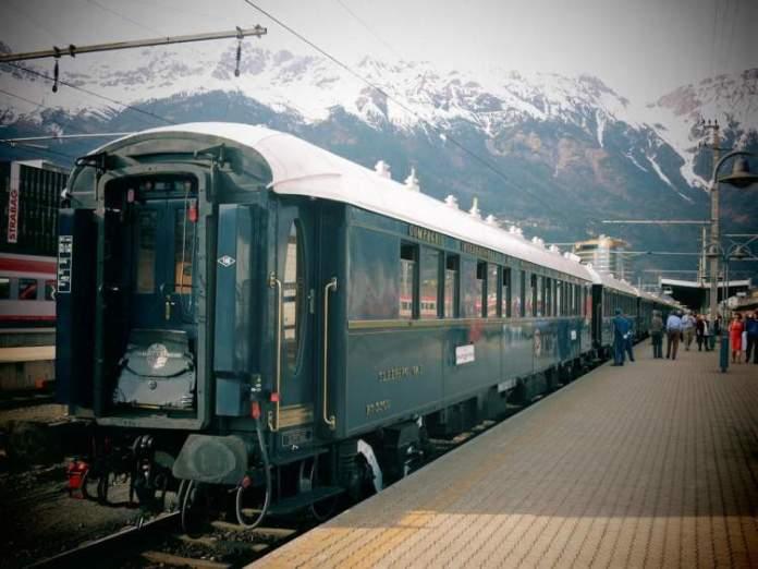 Viagens de trem em Venice Simplon-Orient-Express (Europa) o trem