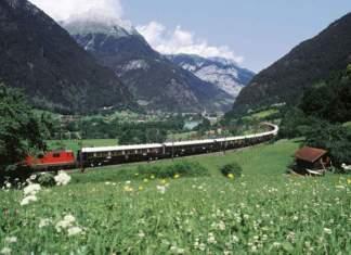Viagens de trem em Venice Simplon-Orient-Express (Europa) paisagens