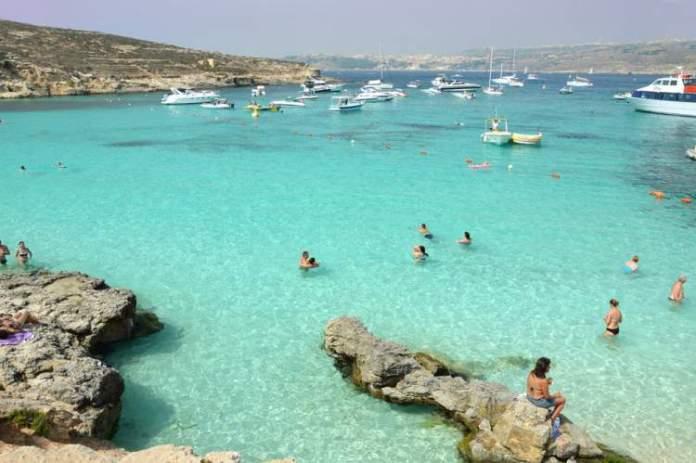 Blue Lagoon na ilha de Malta