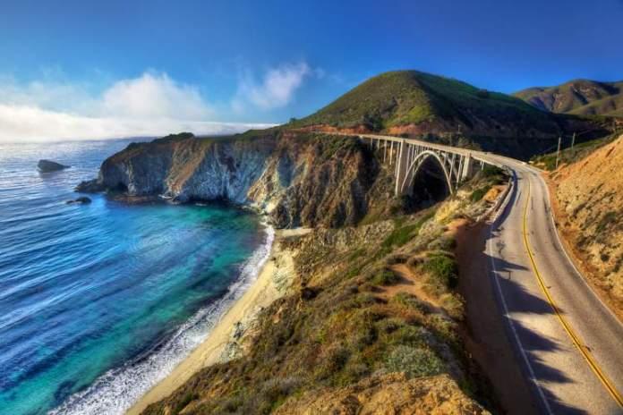 Highway 1, Big Sur, Califórnia é uma das estradas maravilhosas