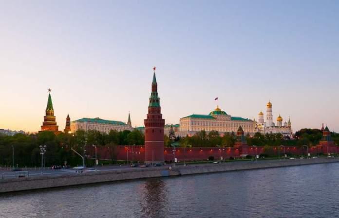 Kremlin é um dos pontos turísticos em Moscou