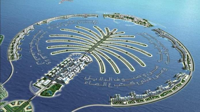 Palm Jumeira é uma das principais atrações turísticas em Dubai
