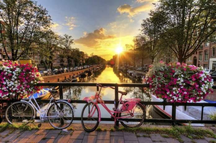 Beleza nas quatro estações do ano em Amsterdã