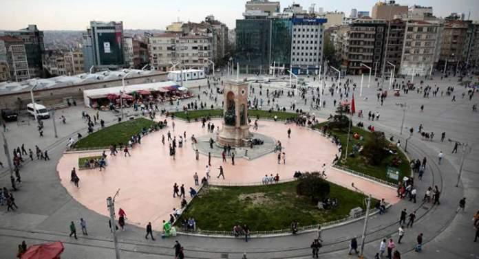 Praça Taksim em Istambul