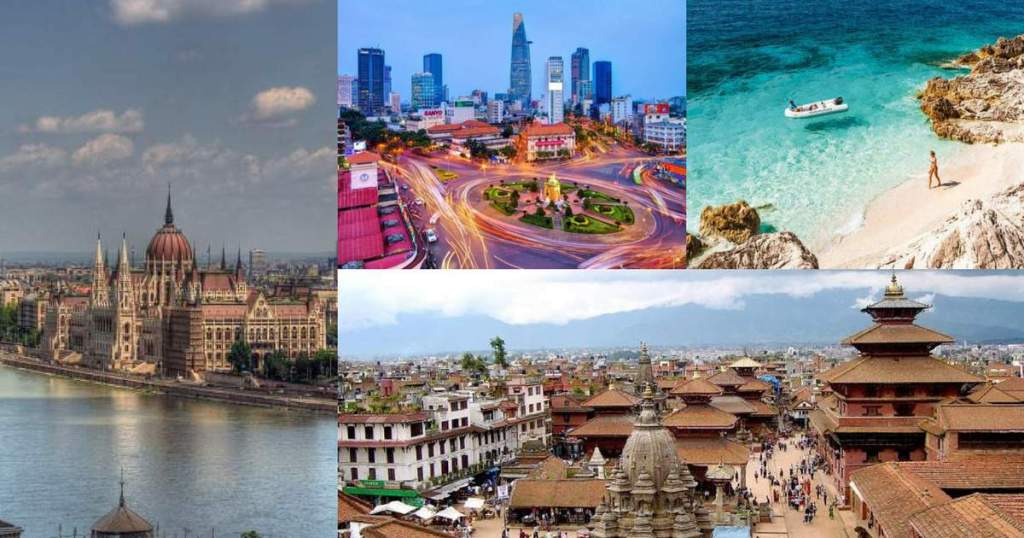 destinos internacionais mais baratos para viajar capa