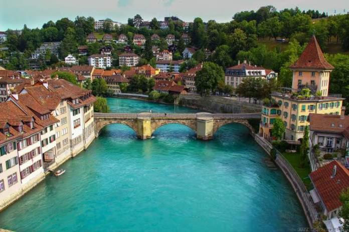 Berna é um dos lugares na Suíça com paisagens deslumbrantes