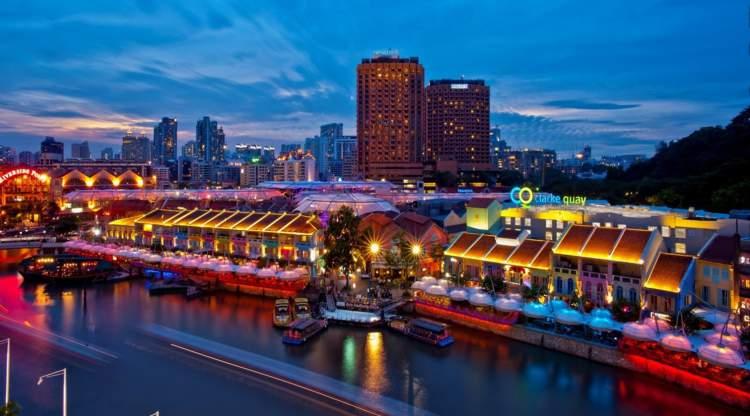 Clarke Quais é um dos pontos turísticos de Singapura