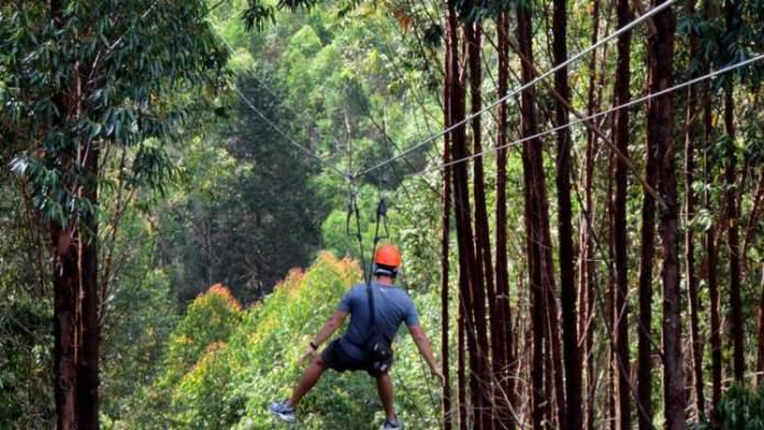 Conhecer a Mega Tirolesa é uma das dicas de o que fazer em Monte Verde