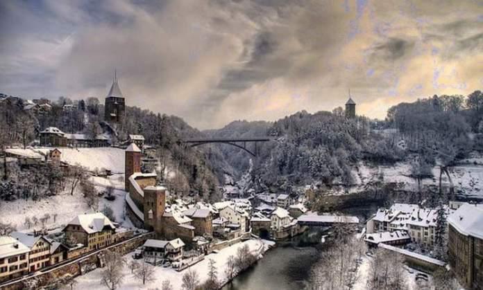 Friburgo é um dos lugares na Suíça com paisagens deslumbrantes