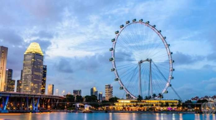 Singapore Flyer é um dos pontos turísticos de Singapura