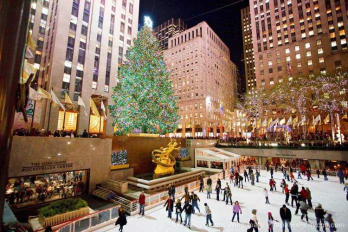 Árvore de Natal em Rockefeller Center é uma das atrações no inverno de Nova York