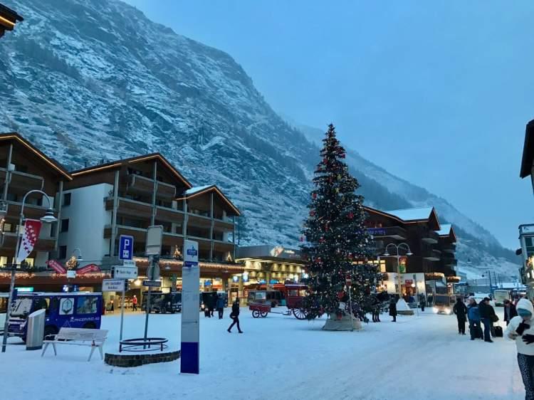Zermatt na Suíça é um dos melhores destinos para esquiar