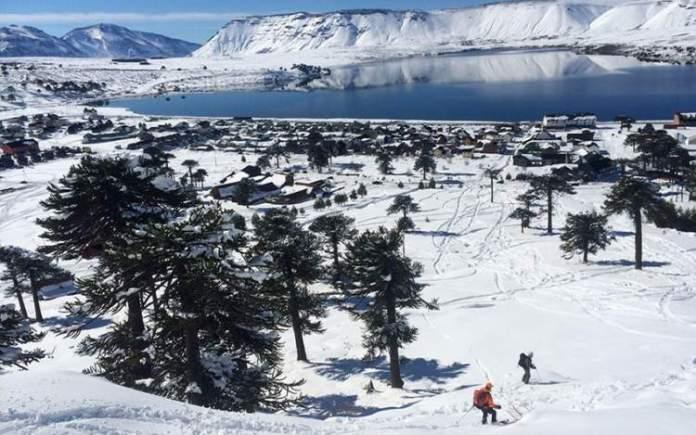 Caviahue na Argentina é um dos destinos de esqui na América do Sul
