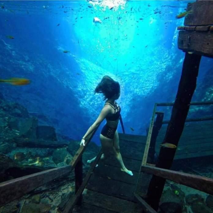 Lagoa Misteriosa no Mato Grosso do Sul é um dos lugares com águas cristalinas no Brasil