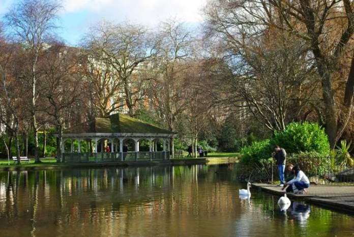 St. Stephen's Green é uma das atrações gratuitas em Dublin