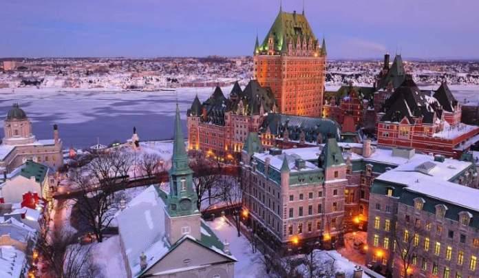 Quebec é um dos lugares impressionantes no Canadá