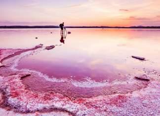 lagos cor de rosa existentes ao redor do planeta