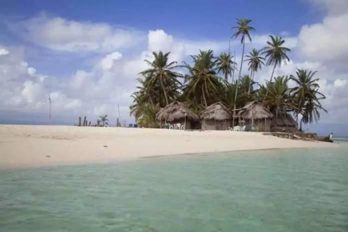 Isla Coco Blanco San Blás no Panamá