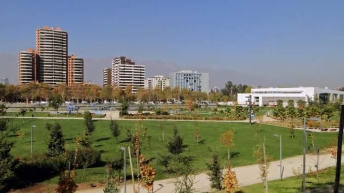 Parque Bicentenário em Santiago do Chile