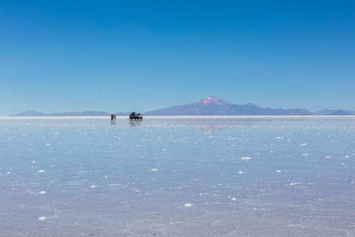 Salar de Uyuni na Bolívia é um dos países para viajar sem visto