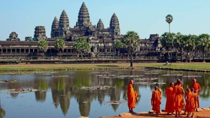 Angkor Wat Camboja é um dos lugares deslumbrantes na Ásia