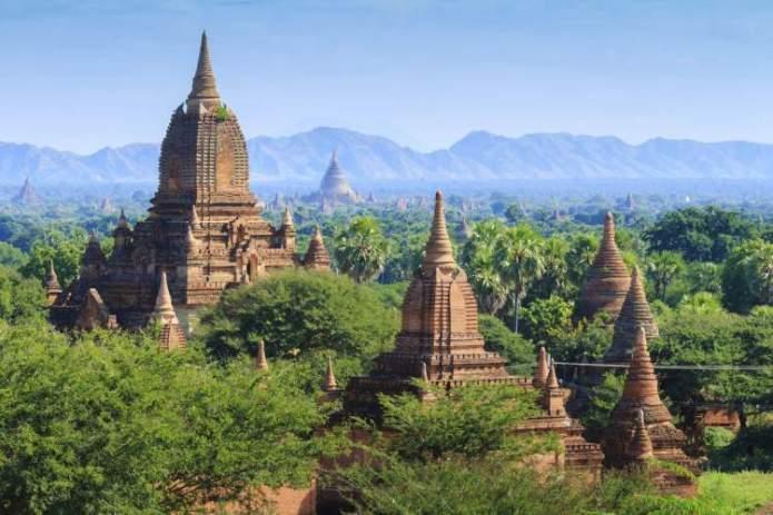 Bagan Myanmar é um dos lugares deslumbrantes na Ásia