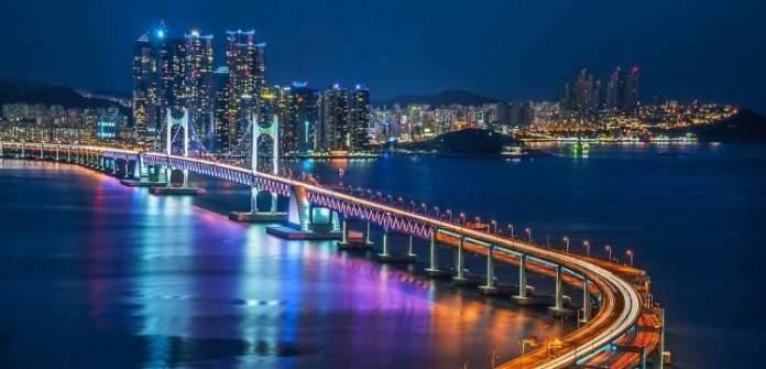 Busan Coreia do Sul é um dos lugares deslumbrantes na Ásia