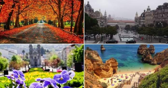 melhor época para ir a Portugal estações