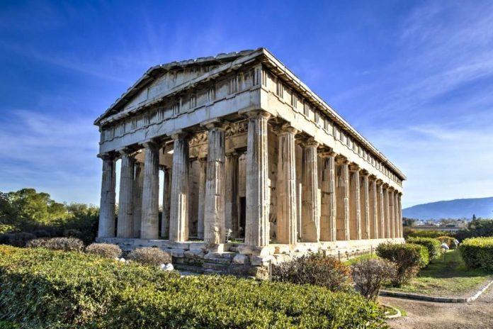 O antigo templo grego de Hefesto