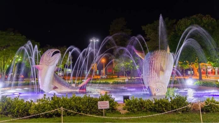 Praça da Liberdade é um dos pontos turísticos de Bonito - Mato Grosso do Sul