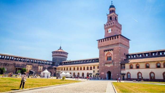 Castello Sforzesco em Milão, Itália.