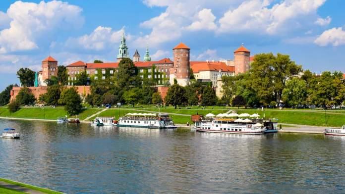 Castelo Wawel, antiga sede dos reis poloneses em Cracóvia, Polônia