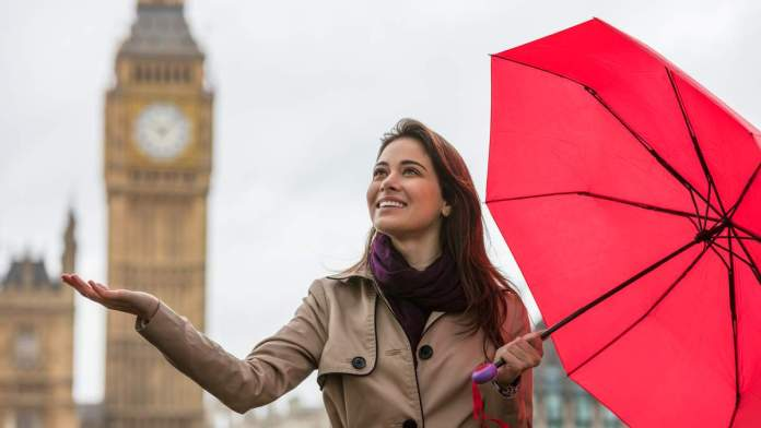 Clima chuvoso em Londres - Inglaterra
