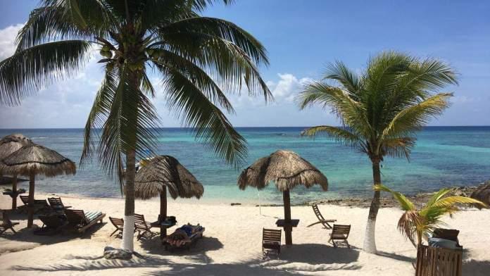 Praia de Paamul, Quintana Roo México.