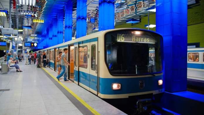 Metrô em Munique - Alemanha