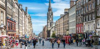 Royal Mile em Edimburgo, Escócia