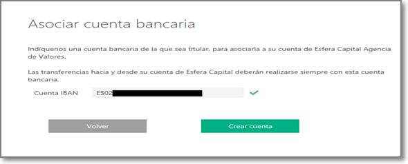 Esfera Capital 8 - Cuenta Bancaria