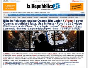 Repubblica.it - Osama ucciso