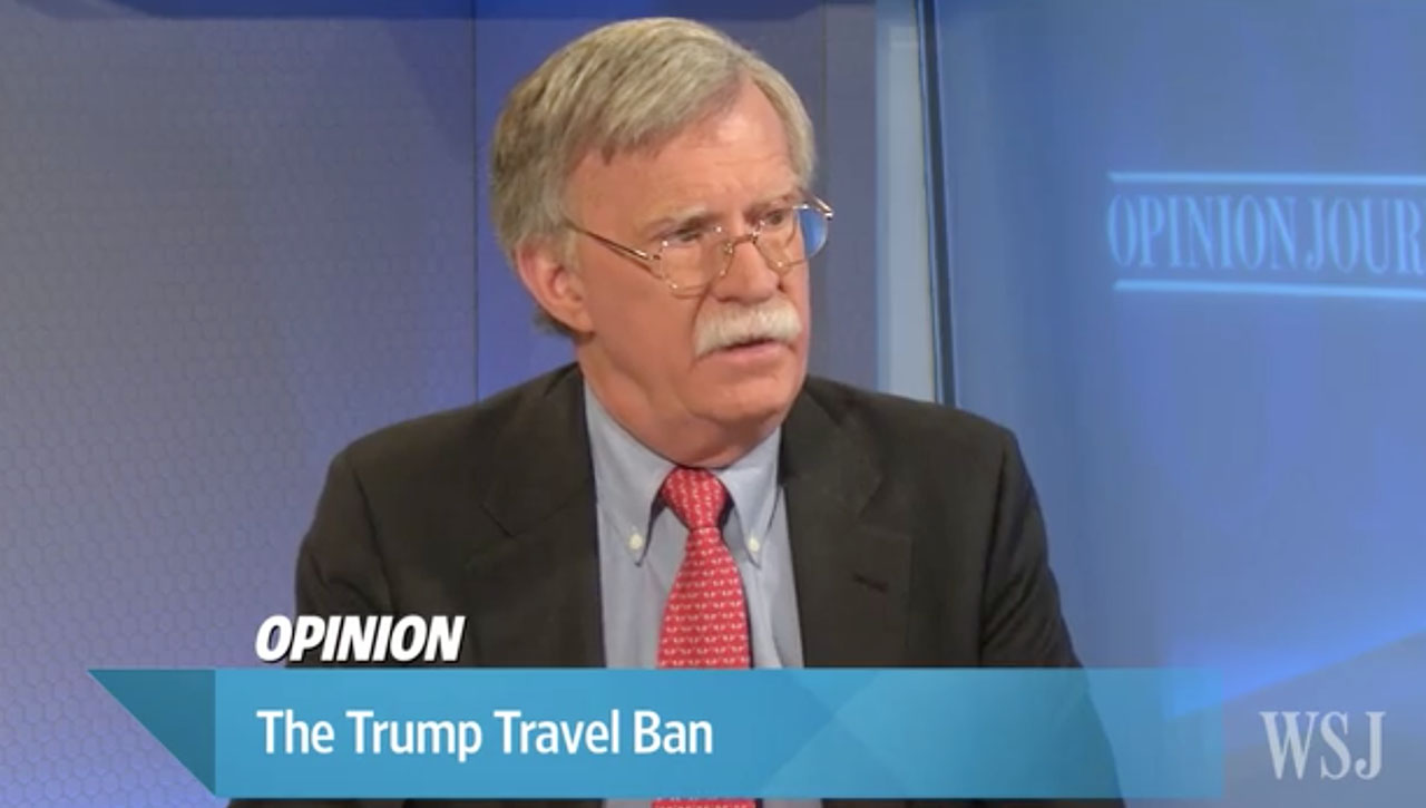 Bolton discusses Trump travel ban