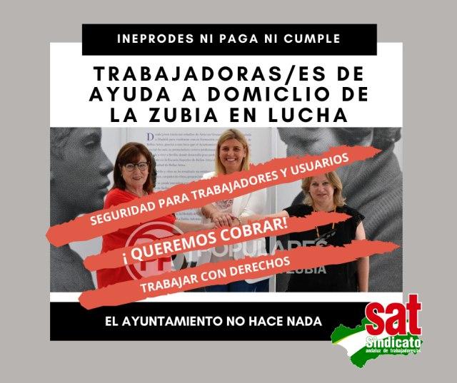 El S.A.T. denuncia la precariedad de medios e inseguridad de las trabajadoras/es de Ayuda Domicilio en La Zubia – La otra Andalucía