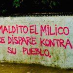 Chile. En pintadas en muros, carteles y algunas barricadas sigue la protesta chilena