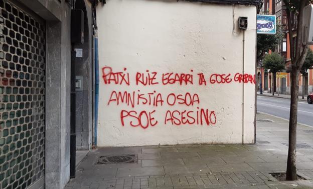 imagen de la pintada en Portugalete. /EC