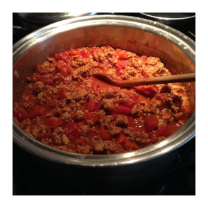 Simmer chili for 1.5 hours stirring occasionally