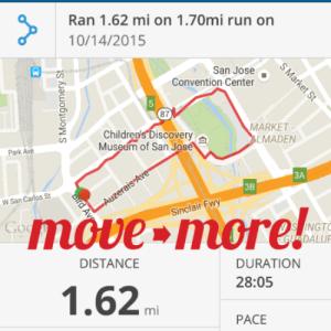 Exceeded my run goal!