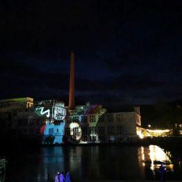 Attisholz Uferpark Eröffnung Lightpainting Lightgraffiti 2019